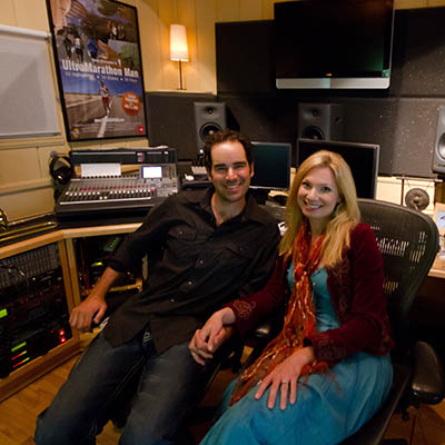 cody and julia in studio